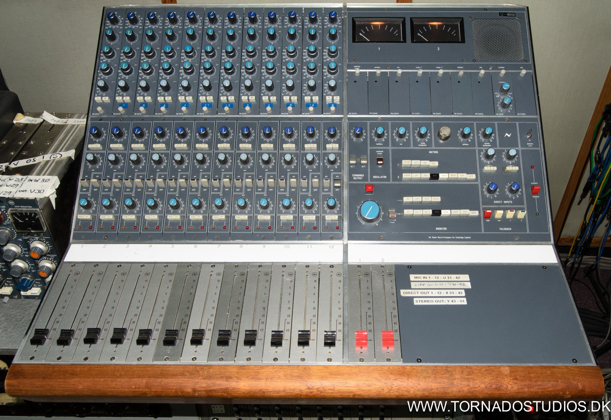 Neve Melbourne 12/2 with 33115 channel amplifiers