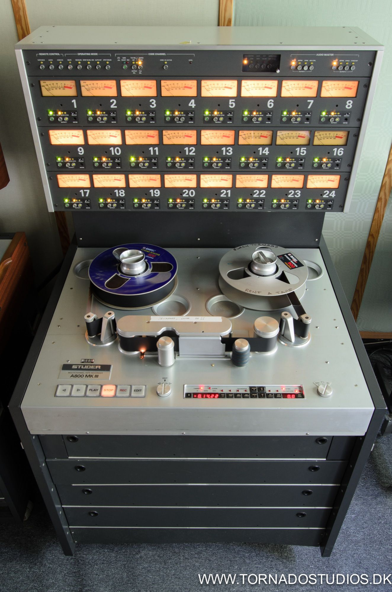 Studer A800 16 track 2 inch analog tape machine