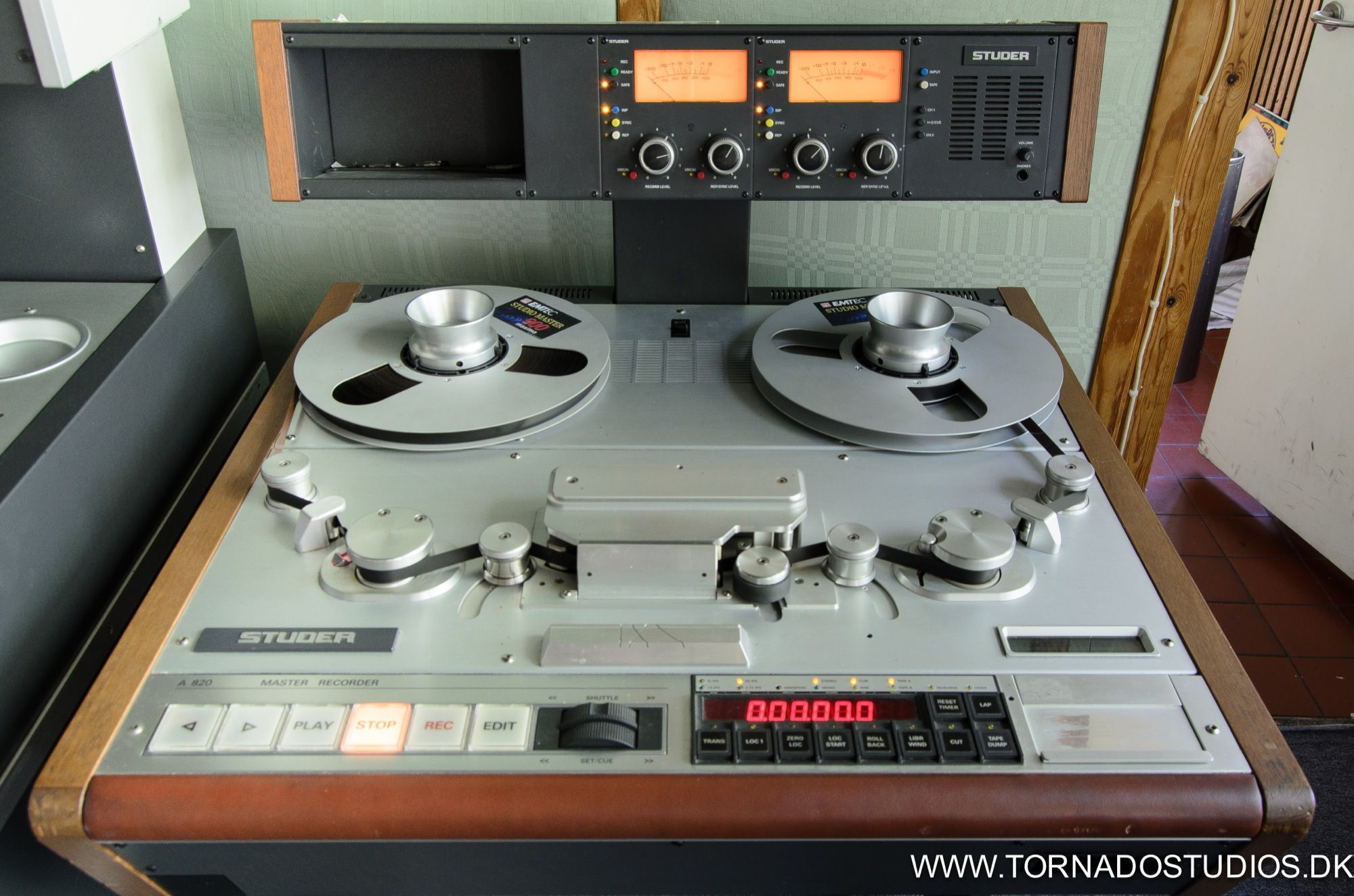 Studer 820 2 track, 1/2 inch analog tape recorder (all speeds)